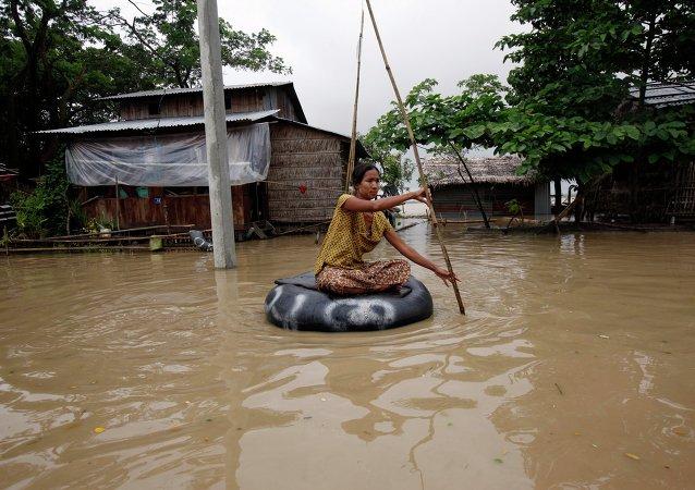 缅甸洪灾已造成96人死亡