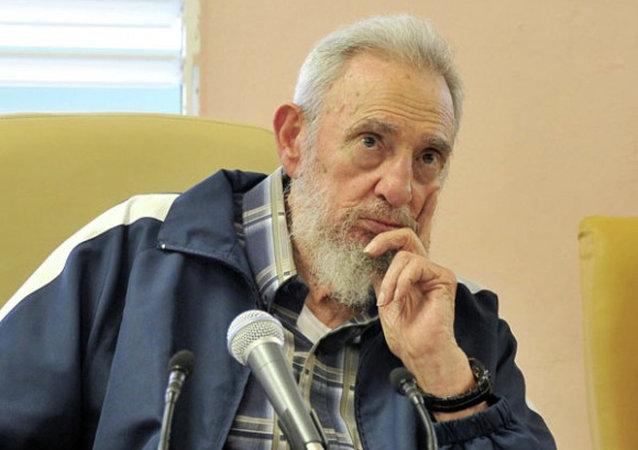 古巴革命领导人卡斯特罗  资料图片
