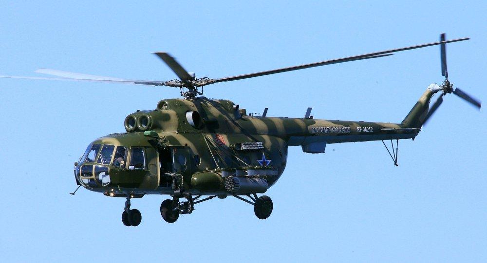 俄总参谋部:米-8直升机在叙利亚遭恐怖袭击被击落