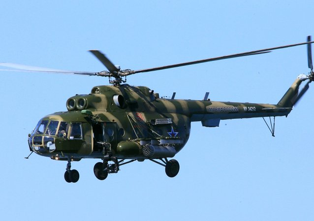 俄哈巴罗夫斯克边疆区出事米-8直升机的人员已经撤离现场