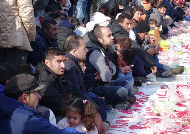 联合国:最近一周约2.1万名移民入境希腊/资料图片/
