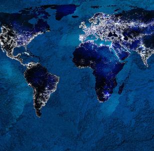 Карта глобального взаимодействия на планете Земля