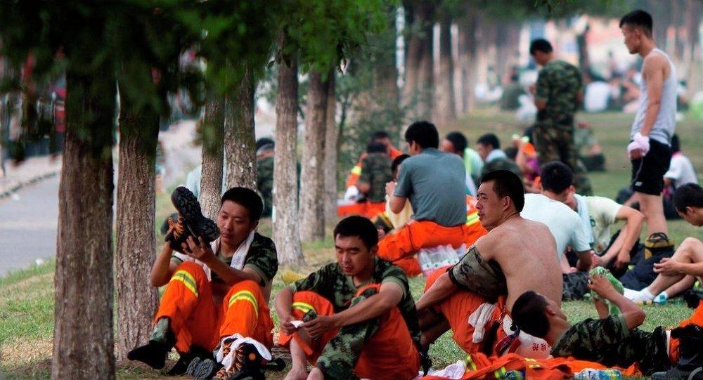 天津灾民要求政府赔偿