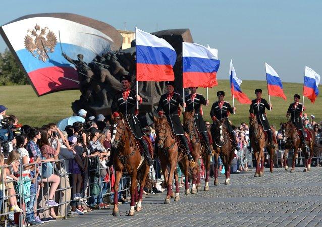 俄罗斯国旗日在莫斯科/资料图片/
