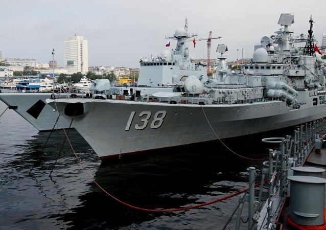 俄国防部:俄中海军进入海上联合演习积极演练阶段