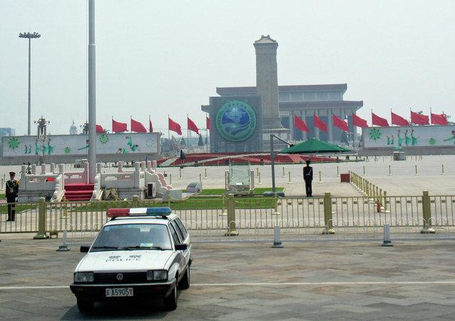 俄独立警卫团官兵参加北京阅兵式总彩排
