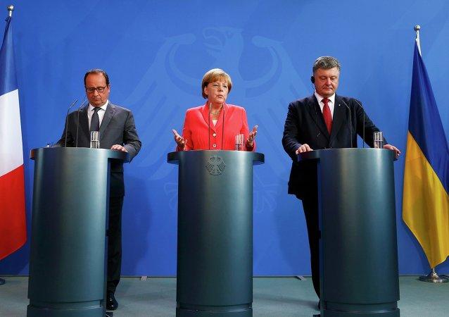 德总理:明斯克协议仍是和平调解乌克兰局势的根本