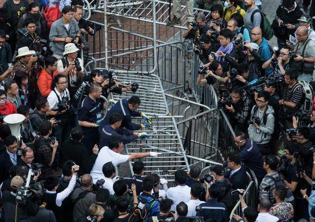 """法院裁决:香港""""重夺公民广场案""""主导者免于监禁"""
