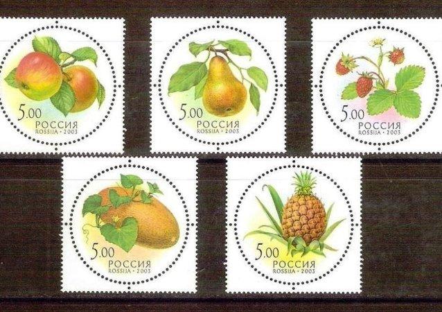 俄罗斯首套圆形和带香味的邮票