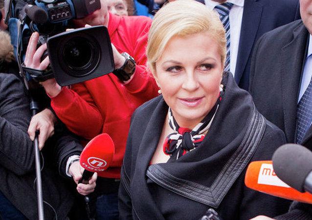 克罗地亚总统科琳达•格拉巴尔-基塔罗维奇