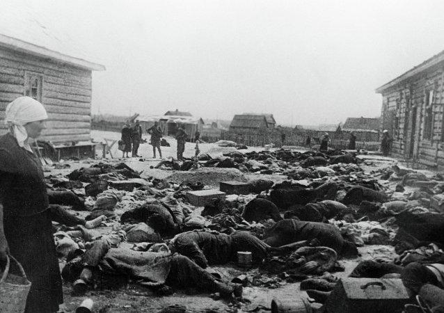 被法西斯分子枪杀的苏联公民