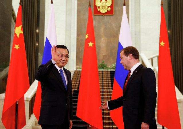 中国国务院总理李克强与俄罗斯总理德米特里·梅德韦杰夫/资料图片/