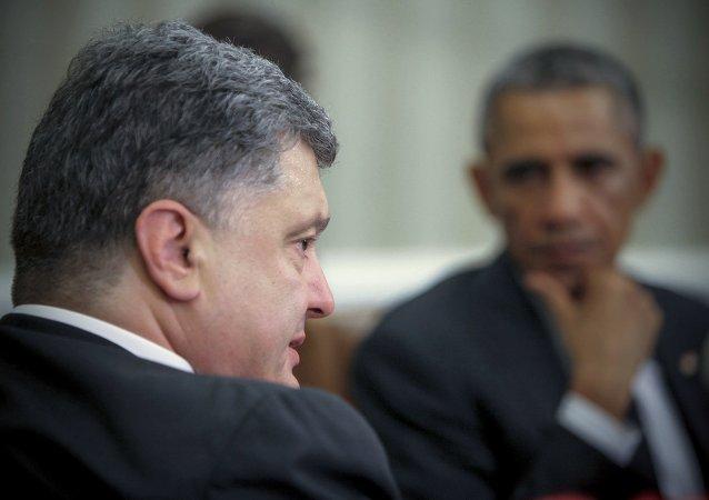 乌总统称与奥巴马讨论执行明斯克协议进一步措施