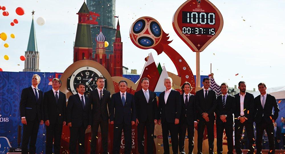 2018世界杯倒计时钟在莫斯科启动