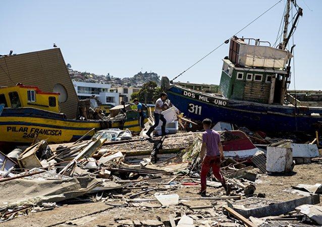 智利沿海发生6.3级地震