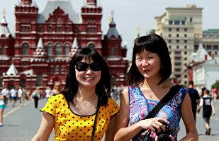 中国旅游者在莫斯科