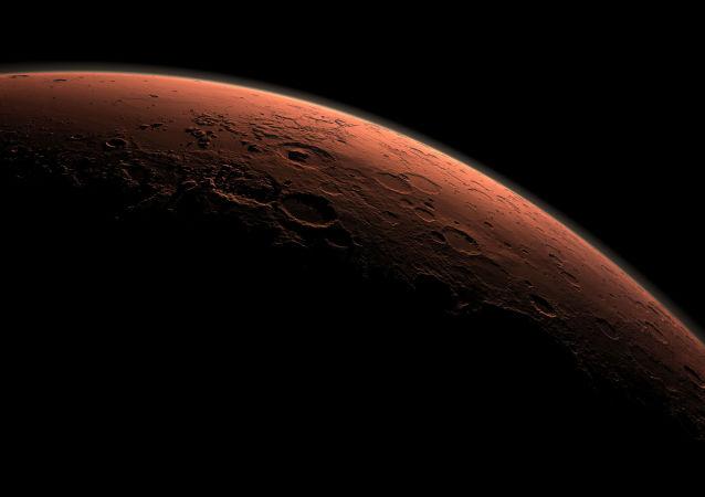 火星上的日出