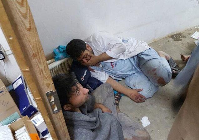 """关于空袭在昆都士的""""无国界医生""""组织:患者就被烧死在病床上"""