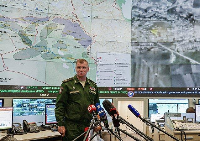 """俄国防部:俄罗斯战机摧毁大马士革省一座为""""伊斯兰国""""制造弹药的工厂"""