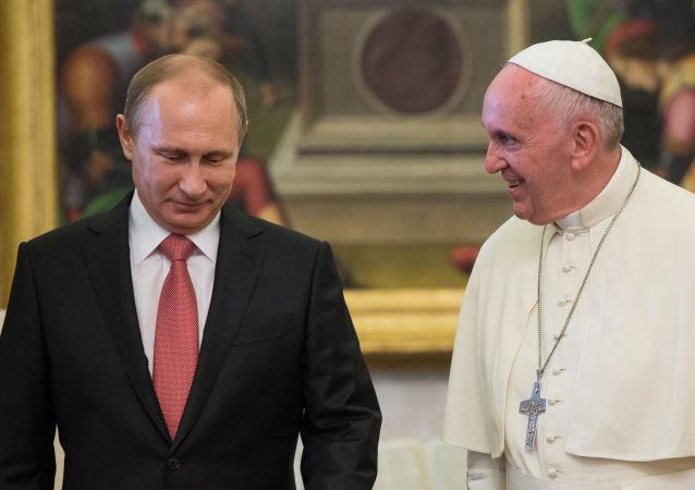 普京与罗马教皇弗朗西丝
