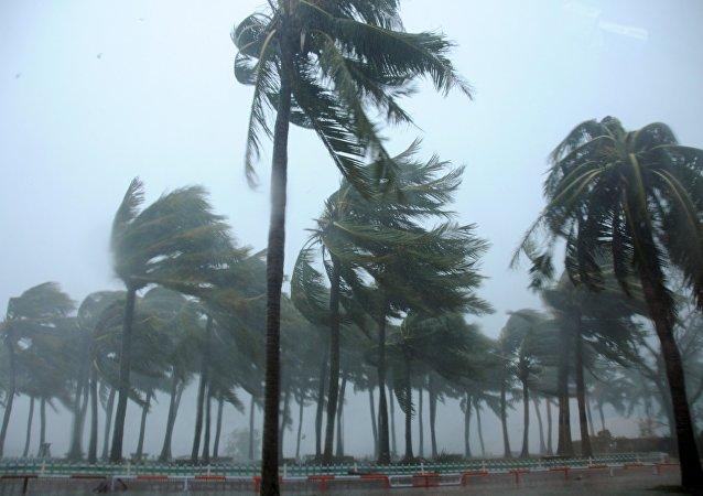 """五级强热带气旋""""温斯顿""""向斐济群岛方向移动"""
