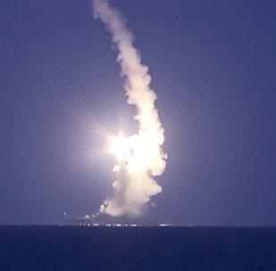 """俄国防部表示,俄海军一昼夜内向巴尔米拉地区""""伊斯兰国""""设施发射4枚""""口径""""巡航导弹"""