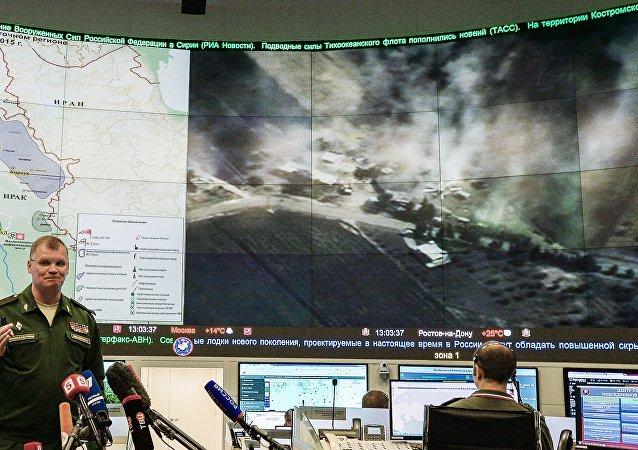 """俄国防部:俄飞机一昼夜内在叙消灭""""伊斯兰国""""29个野外营地"""