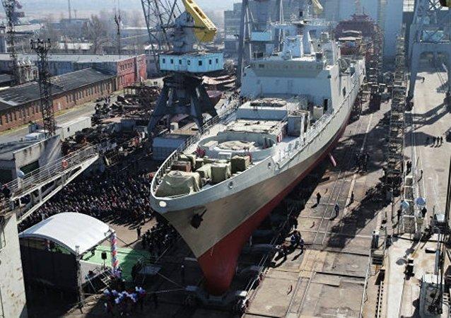 """配备""""口径HK""""导弹的俄海军护卫舰进入波罗的海试航"""