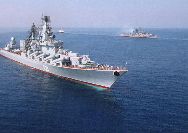 俄黑海舰队:俄地中海分舰队舰艇数量增加到15艘