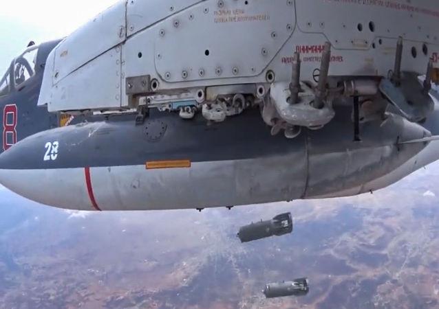 国防部:俄空天部队在叙利亚各地区同时空袭牵制恐怖分子