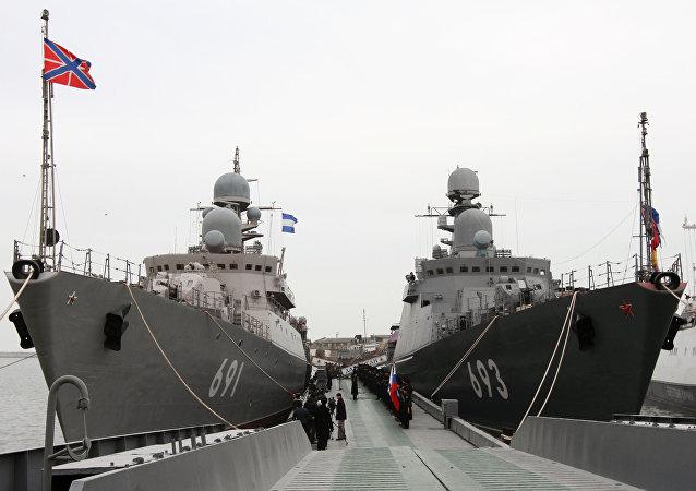 """""""达吉斯坦""""导弹艇装备了独一无二的""""口径""""导弹综合体"""