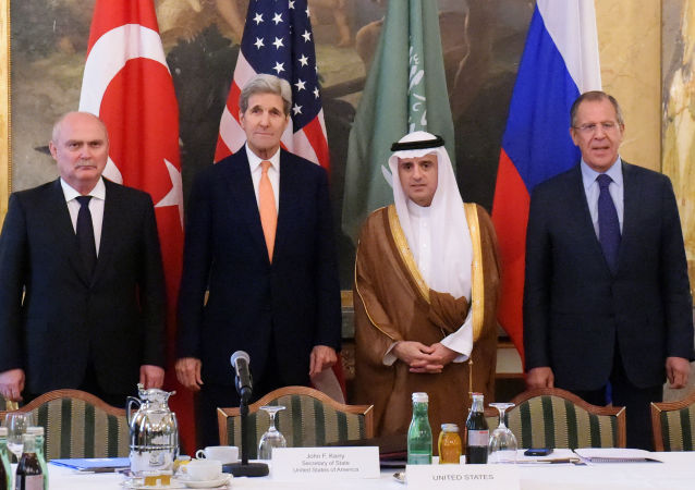 拉夫罗夫在维也纳与美国、土耳其及沙特阿拉伯同僚进行会面