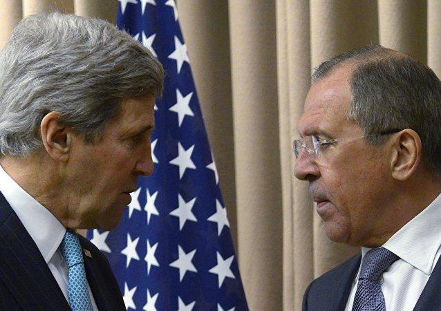俄外长与美国务卿讨论政治解决叙利亚问题前景