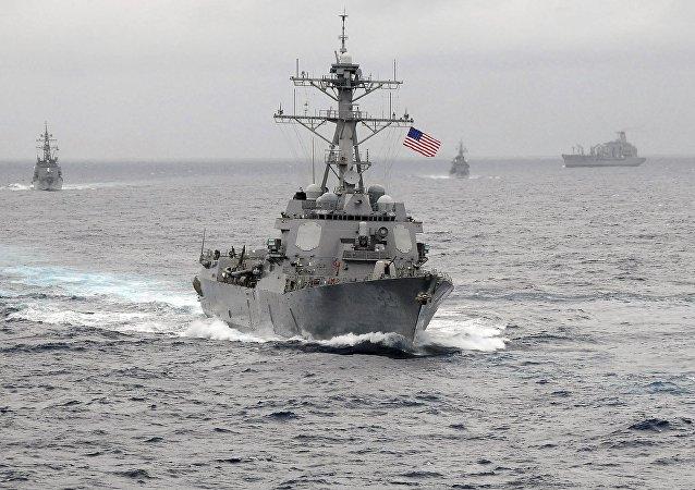 中国外交部:中方对美军舰非法进入南海表示强烈不满