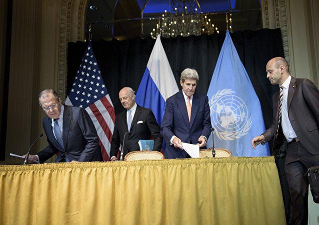 叙问题维也纳会议各方呼吁联合国主持叙政府与反对派会谈