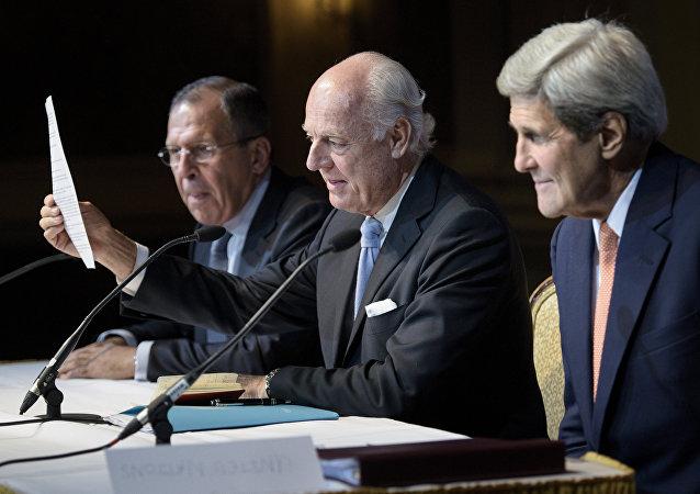 大马士革代表团向联合国特使提交调解叙利亚文件的修正案
