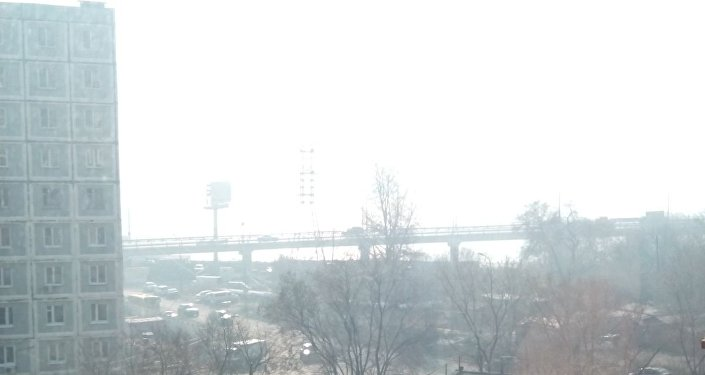 哈巴罗夫斯克被来自中国的烟雾笼罩