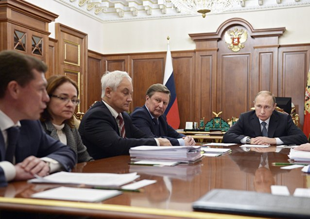 普京在经济问题会议上