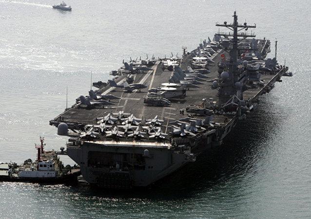 美媒:中国潜艇曾潜随美国航母