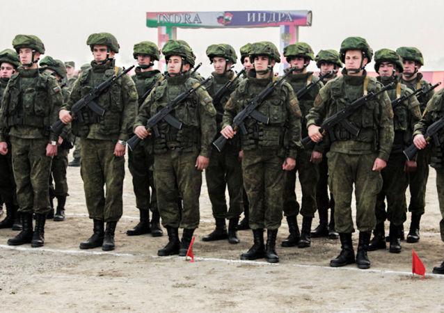 """俄印海军开始""""因陀罗""""联合演习地面部分"""