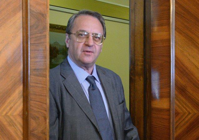 俄总统中东和非洲国家事务特使、俄副外长米哈伊尔·波格丹诺夫