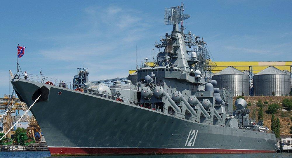 俄黑海艦隊旗艦赴地中海參加俄中海上軍演