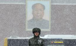 大雪中的警衛
