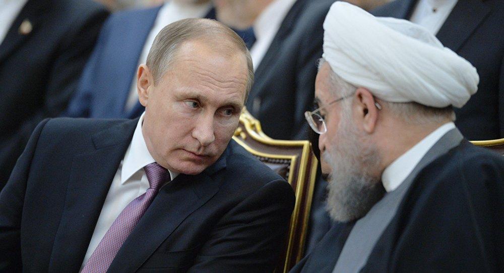 俄羅斯總統普京和伊朗總統魯哈尼