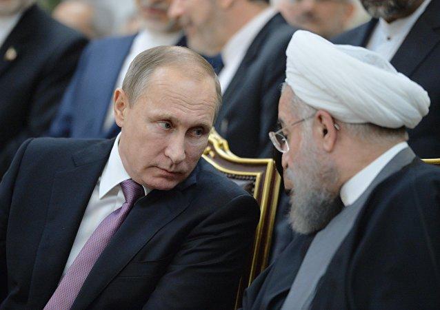 俄罗斯总统普京和伊朗总统鲁哈尼