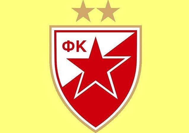 """""""贝尔格莱德红星""""足球俱乐部的标志"""