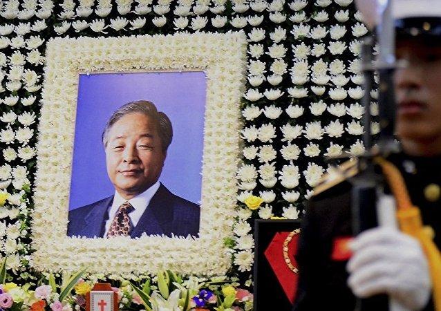 韩国告别前总统金泳三