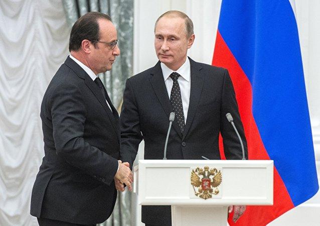 """俄总统新闻秘书:被取消的普京访法行程中未计划""""诺曼底模式""""四国会晤"""