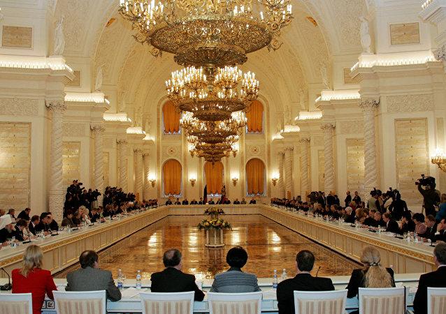 社会院会议在克里姆林宫举行/资料图片/