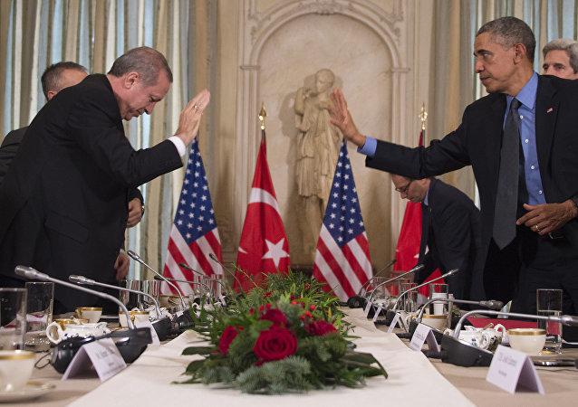 叙利亚库尔德人得到美国支持 土耳其总统予以谴责